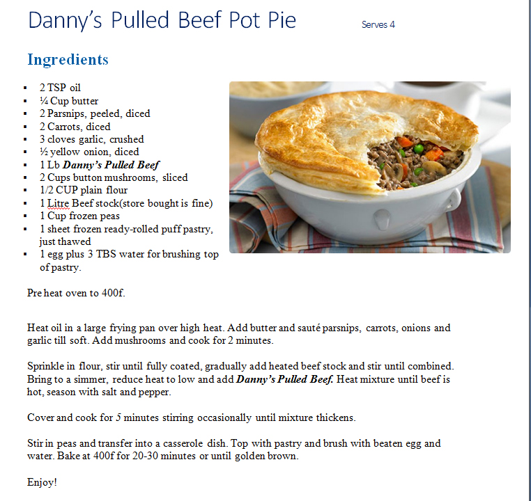 Pulled Beef Pot Pie